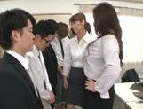 Horny office vixens Chisato Shohda and friend handle cock