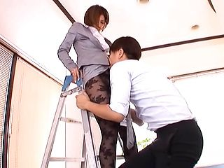Captivating Akari Asahina is a hot milf in an office suit
