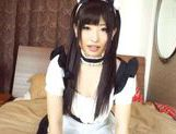 Arisa Nakano Asian doll in cosplay sex as a sexy maid