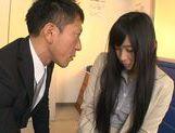 Long-haired Japanese teacher Nana Ogura rides pecker