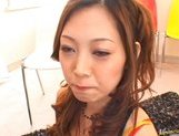 Miho Maeshima Asian doll gets a load of cum in the face picture 13