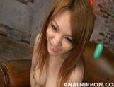 Cute Japanese AV model Rei enjoys toys in her anal and engulfs dick picture 9