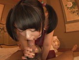 Glorious teen amateur Tsugumi Mutou enjoys a kinky sex action picture 13
