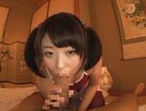 Glorious teen amateur Tsugumi Mutou enjoys a kinky sex action picture 14