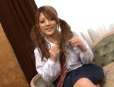 Risa Tuskino Asian doll gives an amazing blow job picture 11
