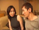 Mature Asian model is into bukkake picture 3