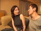 Mature Asian model is into bukkake picture 5