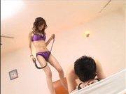 Japanese AV model enjoys a cock ride
