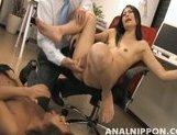 Mai Mizuswa Naughty Asian secretary is sucking cock