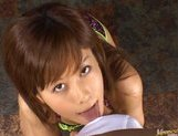 Horny chick Hime Kamiya gives a really hot pov Asian blowjob picture 2