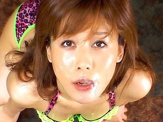 Horny chick Hime Kamiya gives a really hot pov Asian blowjob
