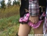 Nice teen girl Shiho Kanou sucks cock and gets her anal and pussy rubbed picture 13