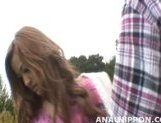 Nice teen girl Shiho Kanou sucks cock and gets her anal and pussy rubbed picture 14
