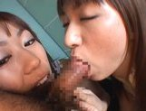 Asian sex doll Haruka Mitsuki and her friend in Asian pov action picture 12