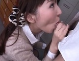 Bukkake porn show with Japanese babe Yui Tatsumi picture 9