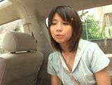 Asian amateur Koharu Aoi blowing a large cock in POV
