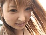 Runna Sakai Asian chick shows off cute tits picture 11