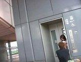Haiji Sweet Asian schoolgirl shows her hot body outdoors
