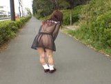 Mikan Lovely Asian student shocks the guys while out walking picture 13