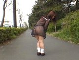 Mikan Lovely Asian student shocks the guys while out walking picture 14