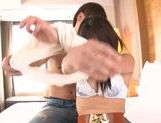 Appetizing milf with long hair rides dick swallows jizz picture 13