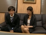 Horny Japanese mature likes to tease younger stud picture 11