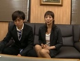 Horny Japanese mature likes to tease younger stud picture 14
