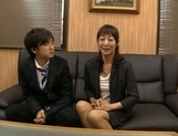 Horny Japanese mature likes to tease younger stud picture 15