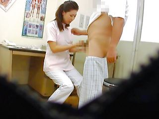 Sexy Asian nurse gives hot head for camera