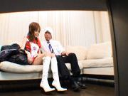 Racing Queen Miina Yoshihara Spreads Her Legs for a Hard Dick