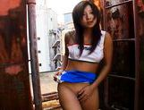 Nasty Asian Teen Marin Sucking Cock in a Back Alley like a