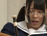 Japanese teen, AI Uehara, masturbating at school picture 11