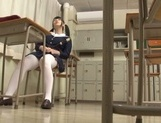 Japanese teen, AI Uehara, masturbating at school