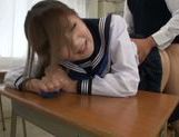 Young asian fucked on the school bench