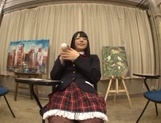 Amateur Ai Uehara shows off masturbating on cam picture 11