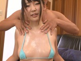 Pretty Japanese nympho Kurumi Tanigawa in hardcore action