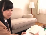 Young Mirai gets hard fucked in her shaved twat