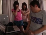 Lovely Japanese teens are horny for some cock picture 15