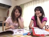 Lovely Japanese teens are horny for some cock picture 3