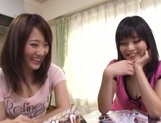 Lovely Japanese teens are horny for some cock picture 5