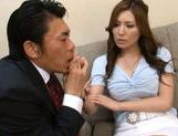 Yuna Shiina Lovely Asian teacher is a fine sex partner picture 6