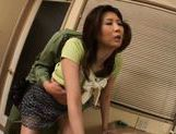 Cute playful Asian babe Nanako Yoshioka enjoys anal insertion picture 13