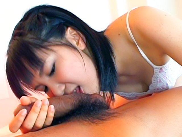 Angel Faced Haru Kashiwagi Turns Naughty While Sucking Sinful Staff