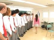Young Japanese teacher Beni Itou enjoys fisting and bukkake