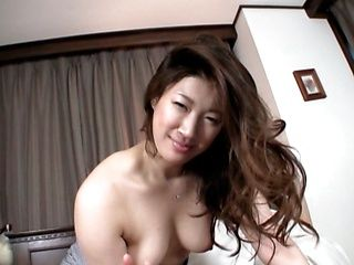 Busty MILF sucks and tit fucks for cum in a POV video