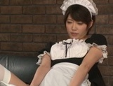 Makoto Yuuki hot Asian maid ends up with cum on her face picture 14