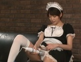 Makoto Yuuki hot Asian maid ends up with cum on her face picture 15