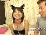 Petite Asian cosplay lover Koharu Aoi fucked doggie fashion picture 14