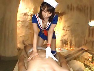 Misuzu Kawana naughty Asian babe enjoys her guy and his hard on
