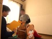 Foxy Japanese milf deepthroats and rides cock for voyeurs' pleasure